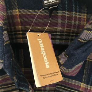 Patagonia Women's Fjord Flannel Shirt, Stone Blue